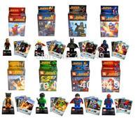 Super hero avengers alliance Thor, Batman, Wolverine, Hulk, Spiderman, Captain America, DIY Building Block doll Toys  T38