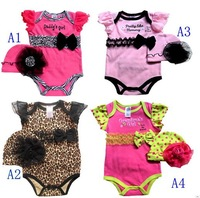 1 PCS Exclusive!High Quality Brand ,Retail 2013 Summer baby girl bodysuit lace newborn clothes 6-12Months RBY01