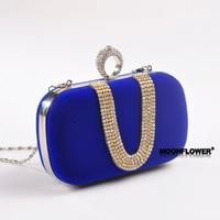 HOT SELL! Fashion Women clutch bag Shoulder handbag channel bas wome purse Mini diamond finger flannel bag evening bag wallte