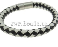Free shipping!!!Leather Cord Bracelet,australian, brass bayonet clasp, two-tone, nickel, lead & cadmium free, 8mm