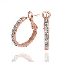 Unique Earringss Designs Fashion Women Earringss 18K Gold Plate Earrings With Austrian Crystal Element E389