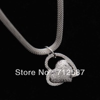 Sterling silver beautiful heart necklace N270  FREE  SHIPPING  5444