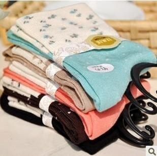 Милый корейский принт конфеты носки для носки хлопок дамы Soks 5 цветов