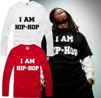 Hip-hopT-shirt long-sleeved T-shirt bboy male rock T-shirt T-shirt graffiti street punk hip-hop male T-shirt