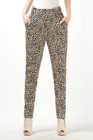 Autumn And Winter Leopard Print Elastic Waist Leggings Basic Skinny Pants For Womens