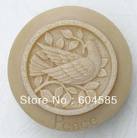 Round PeaceBird Craft Mould DIY Handmade Silicone Soap Making Molds