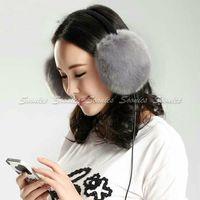 Hot Saling Warm Plush 3.5mm Stereo Music Headband Headphone Headset Earphone Winter Earmuff,10pcs/lot