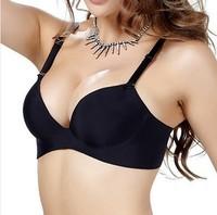 New 2014 3/4 cup bras sexy bra one-piece black seamless push up bras underwear ambrielle bras for women W5114