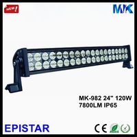 "New 2014 2PCS/Lot,24"" 120W Led Light Bar IP65 Epistar 12V 24V DC 7800LM 6000K Double Rows 24 Inch Led Light Bar Offroad MK-982"