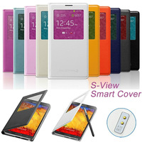 Official S VIEW Sleep Wake Function flip leather case for Samsung Galaxy Note 3 Note3 N9000 Retail package