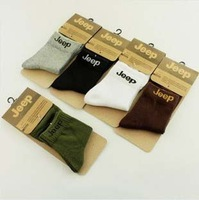 High Quality 5 Pairs/lot  Cotton Waist Socks For Men In Tube Soks 5 Colors Free Shipping
