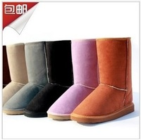 Free Shipping 2013 new fashion warm woman flat snow boots women's autumn winter shoes/short boots/ankle boots