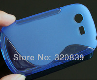 6 pcs Blue S-Line Wave RUBBER TPU SOFT SKIN COVER CASE FOR Samsung Galaxy Star S5282