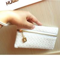 Knitted purse mobile phone bag 2013 female day clutch wrist length small bags women's handbag man bag
