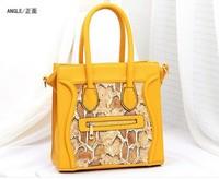 Free/drop shipping 2013 new fashion brand designer Snake skin Smily handbag women shoulder bags tote bag women, MT33