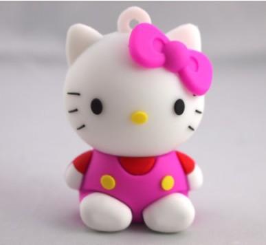 Christmas gift usb memory disk 1gb 2gb 4gb 8gb Hello kitty usb Free Shipping(China (Mainland))