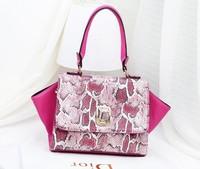 Free/drop shipping 2013 new fashion brand designer Snake skin handbag women shoulder bags tote bag women, MT32