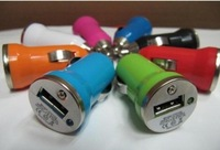 50pcs mix color car cigarette lighter for iphone iphone 3G iphone 3GS PDA iphone4 4s mini Mobile phone USB Car Charger