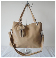 A96(khaki),Designer ladys handbag,shoulder bag,PU+hanging ornament,43 x 29cm,6 different color,two function,Free shipping