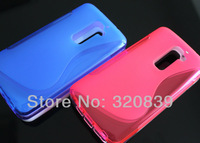 6 mixed color  S-Line Wave RUBBER TPU GEL SOFT SKIN COVER CASE FOR LG G2 D802 Wholesale
