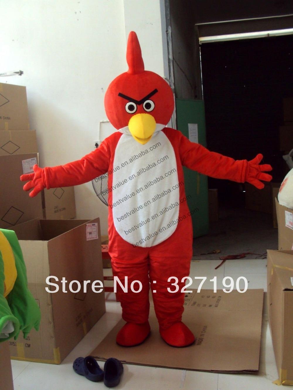 Adulto new natal pássaro vermelho dos desenhos animados Mascot Costume fantasia traje da mascote do partido publicidade(China (Mainland))
