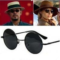 estilo vintage mujer y el hombre de moda las gafas de sol redondas miror