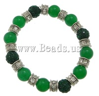 Free shipping!!!Dyed Marble Bracelet,2013 Jewelry, with rhinestone pave bead & Elastic Thread & Brass, platinum color plated