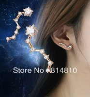 2013 fashion accessaries, lovely personality  Big Dipper earrings, 5 pcs MOQ, free shipping