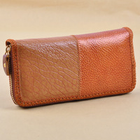 2013 Fashion Patchwork Genuine leather Handmake Women Mini Wallets High quality Free shipping Min.order $10 mix order