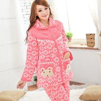 Modern 2013 women's autumn and winter long design small cotton thickening falagou domesticated hen sleep set lounge