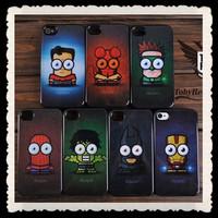 10pcs free shipping luxury Super hero iron man batman spider-man cartoon hard back case cover for Iphone 5 5G 4 4S