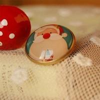 Min Order $15(Can Mix Item)Christmas Santa Claus Brooch Pin Imitation Time Gem Brooch
