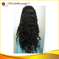 Stock 24'' natural color Malaysian hair lace front wig