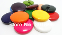 Free shipping,100pcs/lot, 30mm Hot sale round flat candy colorful  resin button sewing  for women DIY in stock,JH028