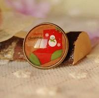 Min Order $15(Can Mix Item)Vintage Christmas Brooch Pins Stockings Imitation Time Gem Brooch