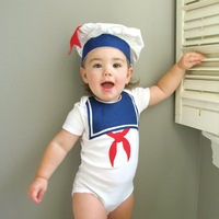Nevy style baby suit 2 sets:Cap+romper Baby boy loves Summer best choice free shipping