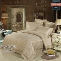Jacquard satin 100% royal slanting cotton stripe bedding bed cover piece set