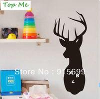 Deer, Buck, Stag, Head, Mount, Antlers, Hunting - Decal, Sticker, Vinyl, Wall, Home, Office Decor TM205