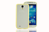 TPU + PC double-color case for samsung S4 9500 9508 frosted protection shell-yellew