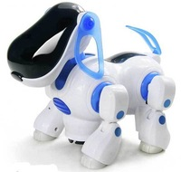 Free shipping Electric robot dogs electronic pet dog toy music shine pet Music Lights Walking Puppy Toys For Children Kids