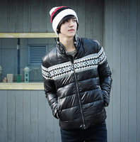 Uyuk 213 autumn and winter cotton-padded jacket slim stand collar slim wadded jacket male