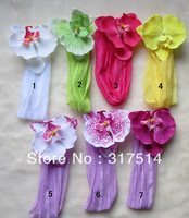 Wholesale flowers wrinkle wide baby headband /hairbands for girls//hair accessories MX020