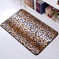 Free shipping Leopard print series doormat mat waste-absorbing slip-resistant bathroom door mat water wash eco-friendly mats