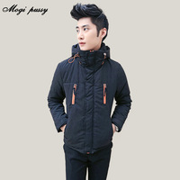 Mogipussy winter with a hood wadded jacket male slim design short cotton-padded jacket male fashionable casual cotton-padded