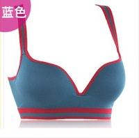 2014 Fashion Push Up Sports bra High Quality Lady's Running Yoga seamless underwear bras , 6 colors W5113