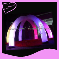 Gus-LT-169 Hotest Inflatable arch as decoration with colorful lights for festival celebration