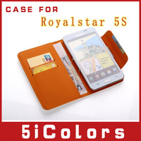 Free shipping 4 inch Leather Case  For Royalstar 5S Protective holster shell(5icolors-A)