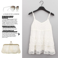 2013 autumn and winter female new arrival basic sweet lace embroidered plus size elastic small vest