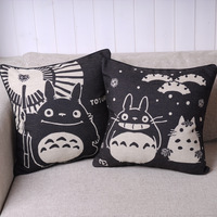 Free shipping Cushion cartoon totoro black fluid pillow kaozhen sofa car tournure birthday gift