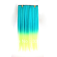 60CM long hair clips for women 4 kinds of style clip in hair extensions gradient Colors Free Shipping Retail / wholesale